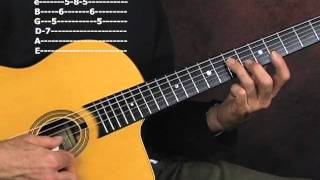 Gypsy Jazz guitar lesson learn and practice lead solo exercises with arpeggios and tabs