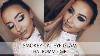Smokey Wing Cat Eye Glam Makeup Tutorial | That Pommie Girl