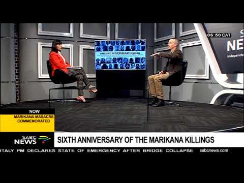 Sixth anniversary of the Marikana killings
