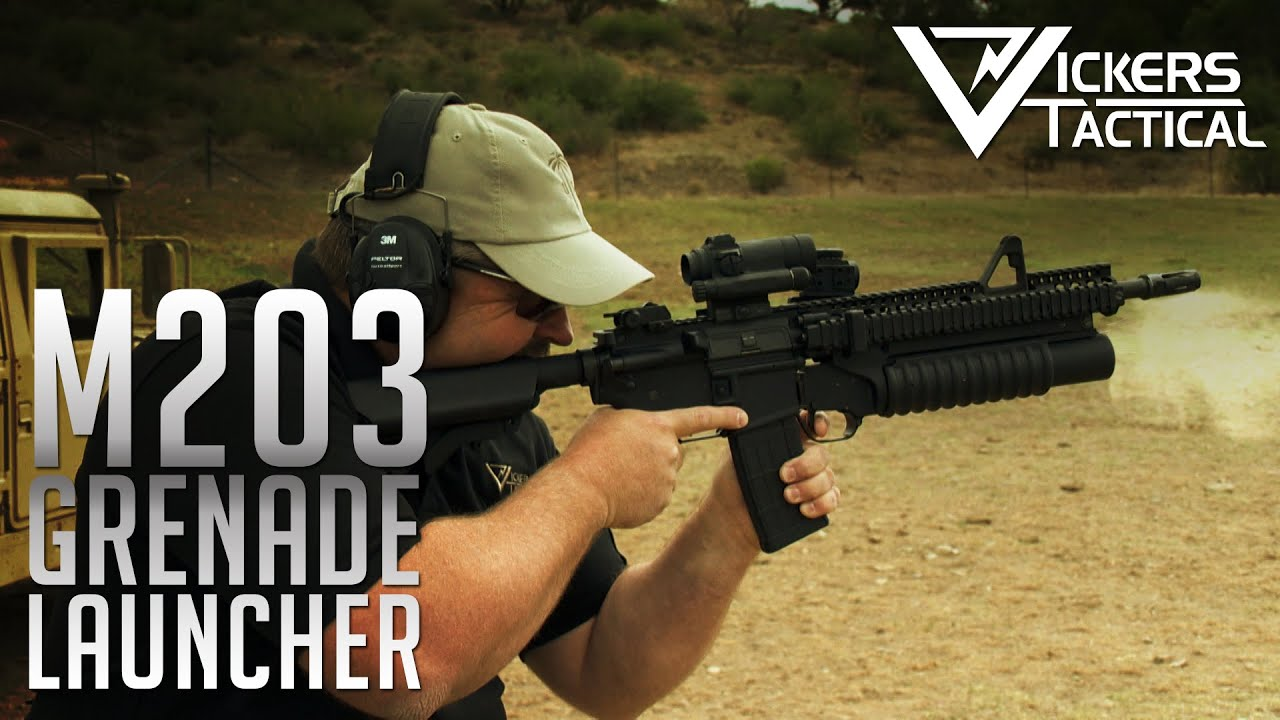 Shooting the M203 Grenade Launcher