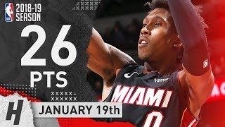 Josh Richardson Full Highlights Heat vs Bulls 2019.01.19 - 26 Points, SICK!