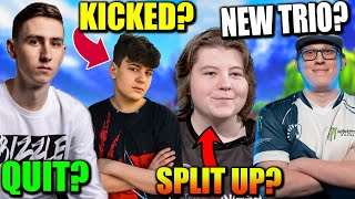 Clix KICKED From trio? Bizzle LEAVES! FaZe Dubs NEW trio? Chap & Av SPLIT! Pros BLAME Epic?