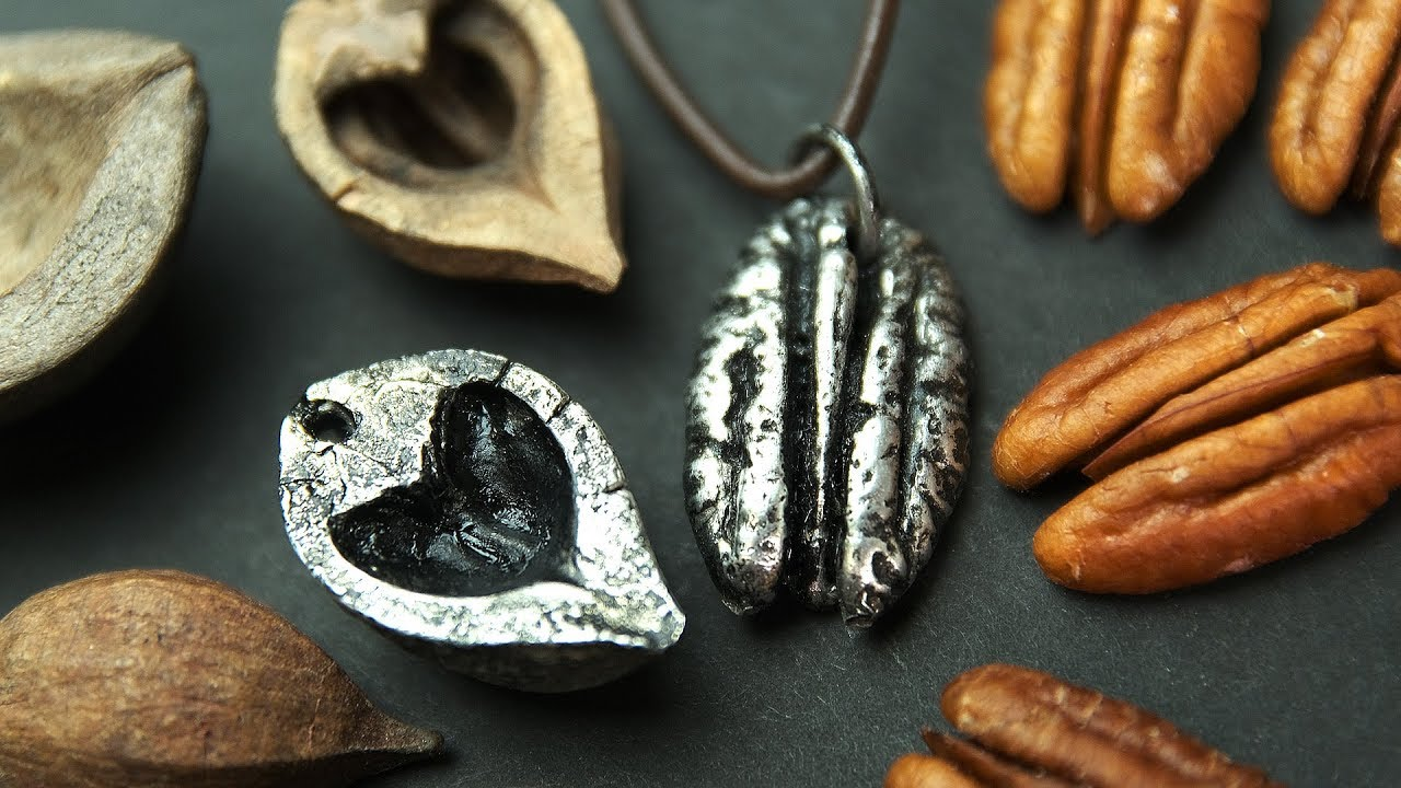 EASY METAL JEWELRY | Pecan Nut Necklace, Hickory Heart Pendant, Pewter  Casting, Mold Making
