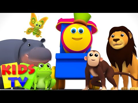 Thumbnail: Bob The Train | Alphabets With Animals | Animals Sound Song | ABC Song | Nursery Rhymes | Baby Songs