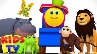 Bob The Train Alphabets With Animals Sound Song ABC Nursery Rhymes Baby Songs Bob the train S03EP08