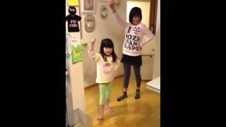 まなみ and ミユウ dance dance chikitingzzz hahahah.
