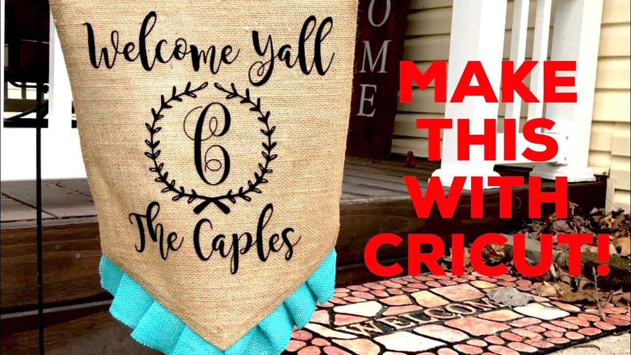 Custom Garden Flag With Your Cricut
