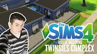 The Sims 4 Speed Build #1  - Twin Complex  - My First House Build Video