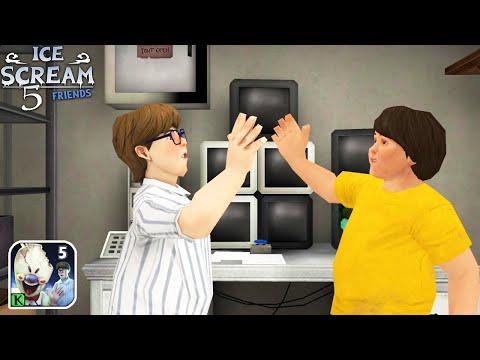 Видео: Полное Прохождение Мороженщик 5 - Ice Scream 5 Friends