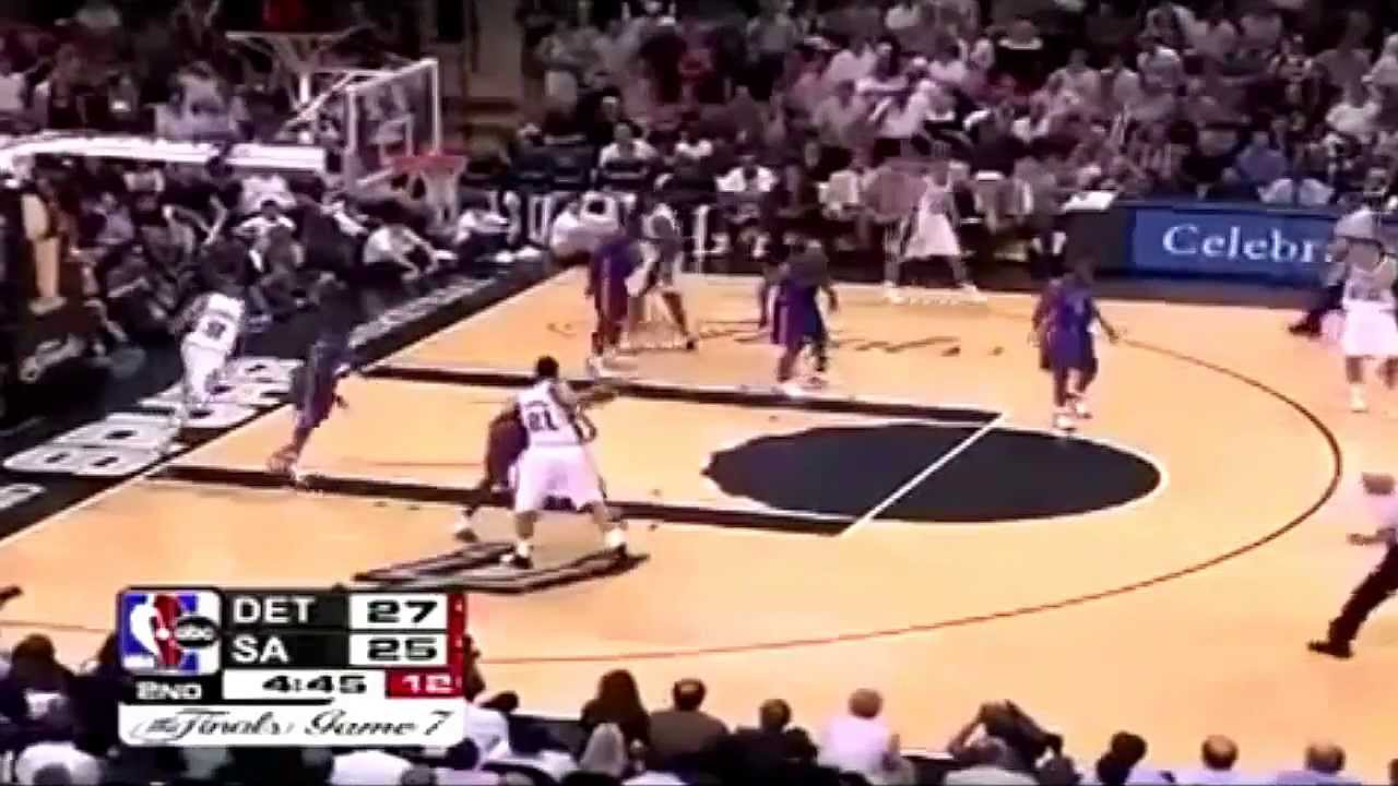 2005 NBA Finals - Detroit vs San Antonio - Game 7 Best ...