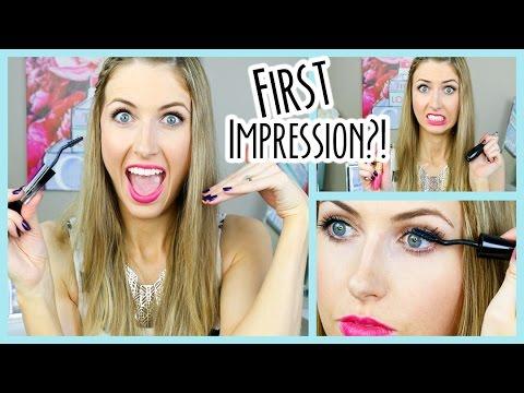 First Impression -- Lancome Grandiose vs. Better Than Sex vs. Maybelline?! - 동영상