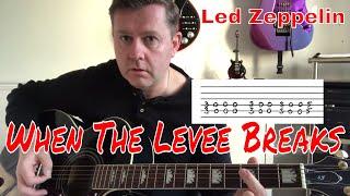 led zeppelin - when the levee breaks - easy guitar lesson