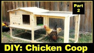 Diy: Small Backyard Chicken Coop Part 2