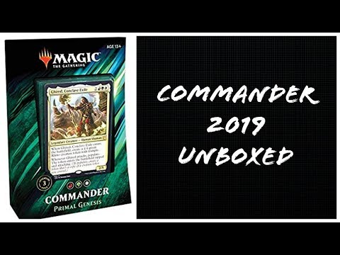 Unboxed - Magic the Gathering Commander 2019 Primal Genesis box opening