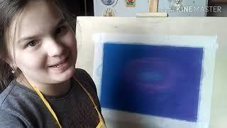 Рисуйте со мной, рисуйте лучше меня! Видеоурок рисования космоса от Lucy Supergirl