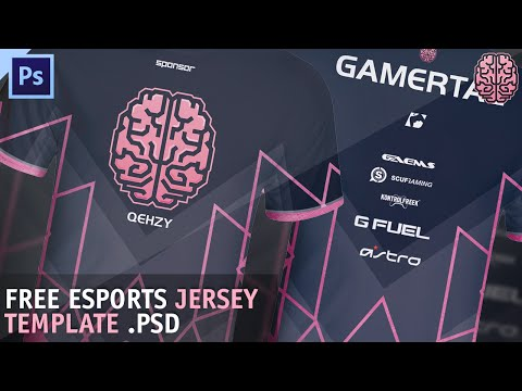 FREE eSports Jersey Template by Qehzy - YouTube