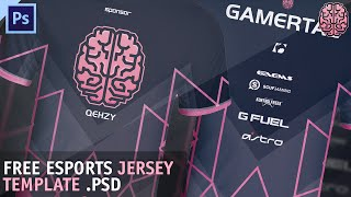 FREE eSports Jersey Template by Qehzy