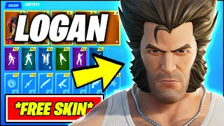 *ALL* Fortnite Update SKINS - FREE LOGAN STYLE (WOLVERINE, XMEN) & BTS EMOTES!