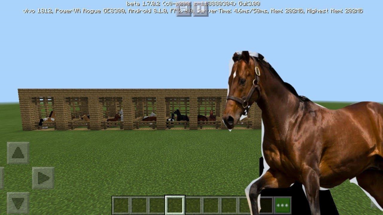 Cara membuat kandang kuda ternak di minecraft - YouTube