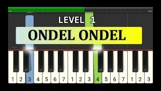 melodi piano ondel ondel - tutorial level 1 - lagu daerah nusantara tradisional - jakarta
