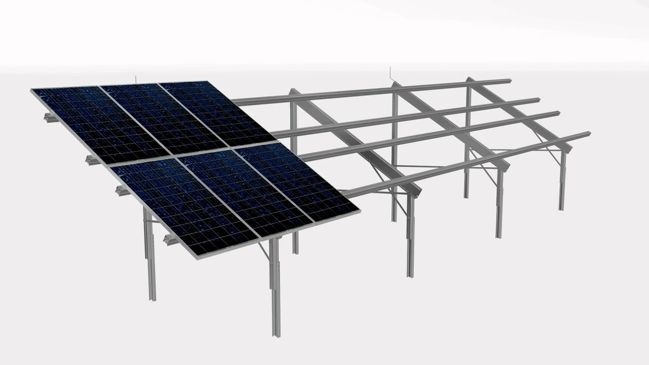TRIC FL - Solar PV Free Standing Greenfield Mounting System - YouTube