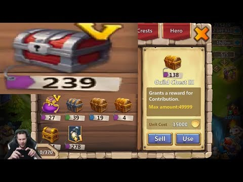 JT's Main Opening INSANE Rewards 250 Castle Chest V + More Castle Clash