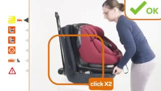 Maxi-Cosi AxissFix Plus | How to install the car seat