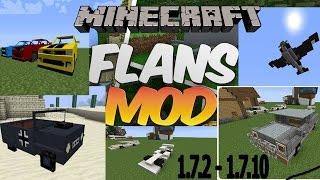 Como Descargar E Instalar Flan's Mod - Armas, Autos, Aviones, Para Minecraft 1.7.10. 2016.HD
