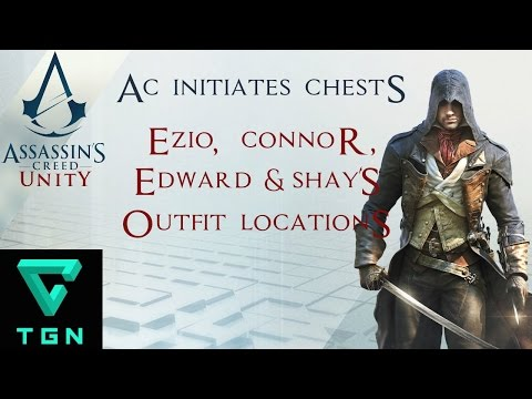Assassin's Creed Unity Ezio, Connor, Edward & Shay's Outfit Locations