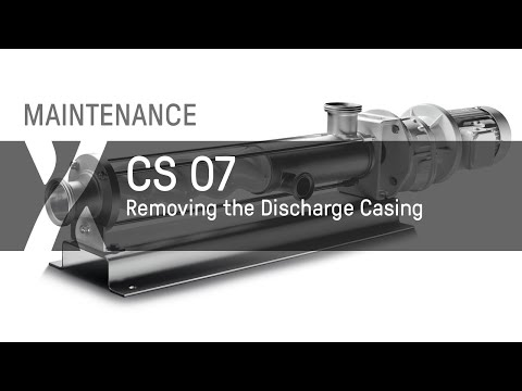 Removing the Discharge Casing of a seepex CS Pump