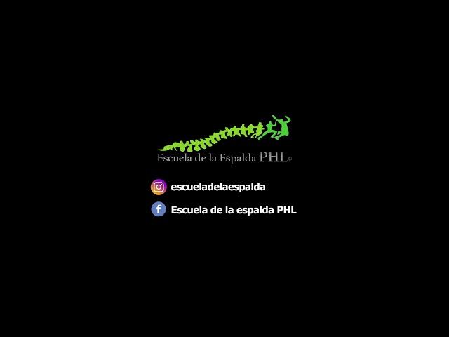 CURSO ESCUELA DE LA ESPALDA PHL ONLINE: PELVIS NEUTRA MMII CON IMPLEMENTOS