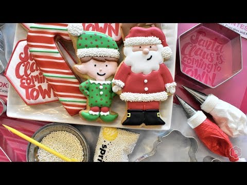 how-to-decorate-santa-&-christmas-cookies---five-designs!