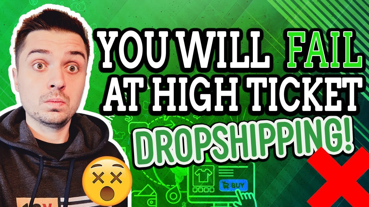 WHAT NO ONE TELLS YOU ABOUT HIGH TICKET ECOMMERCE DROPSHIPPING!!!