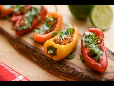 Turkey Taco Mini Stuffed Peppers Recipe