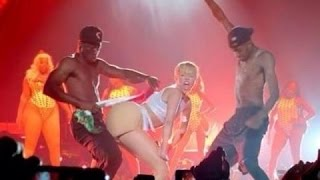 VIDEO: Miley Cyrus golpea la bandera mexicana con su trasero! // twerking Mexican flag controversy