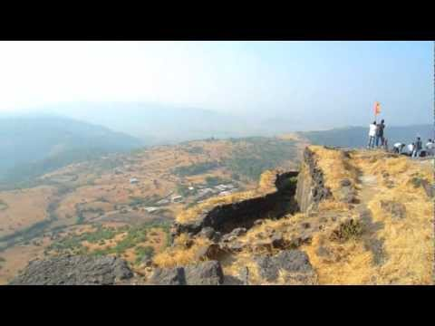 Lohagad Fort: View from Vinchu kata (Scorpions tail)