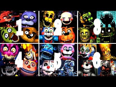 Five Nights At Freddy's 1 2 3 4 5 6 All Jumpscares