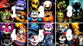 Five Nights At Freddy s 1 2 3 4 5 6 All Jumpscares