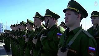 Церемония приведения к Военной присяге новобранцев спортивных рот ЦСКА