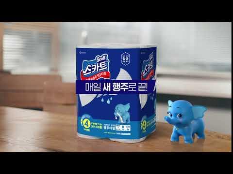 스카트 항균 프레쉬블루 행주타월 (6s)
