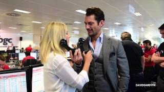 David Gandy & Mollie King at the BGC Annual Global Charity Day (11/09/2015)