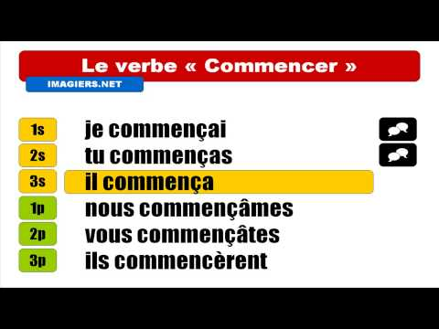 French Verbs Commencer Indicatif Passé Simple Youtube