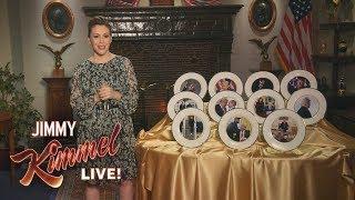 Alyssa Milano Presents Donald Trump Commemorative Plates
