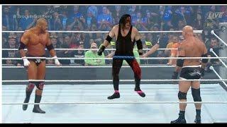WWE Goldberg vs Triple h vs Kane world championship match.