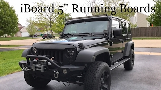 IBoard Running Boards Jeep Wrangler Installation