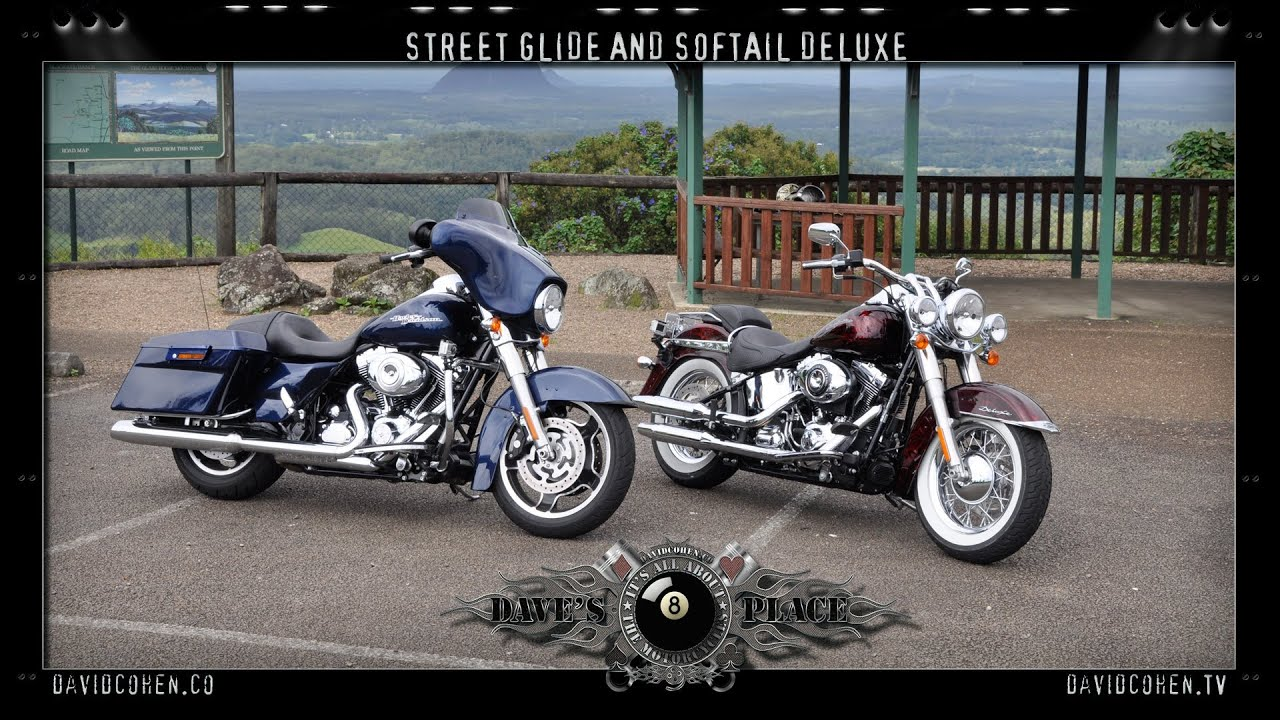 Difference Between Street Glide And Road Glide >> Flstn Softail Deluxe Flhx Street Glide Ride Youtube