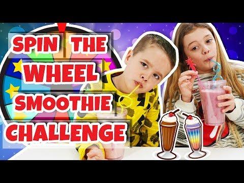 SPIN THE WHEEL SMOOTHIE CHALLENGE!! 🍹🍹- Broer en Zus TV #286