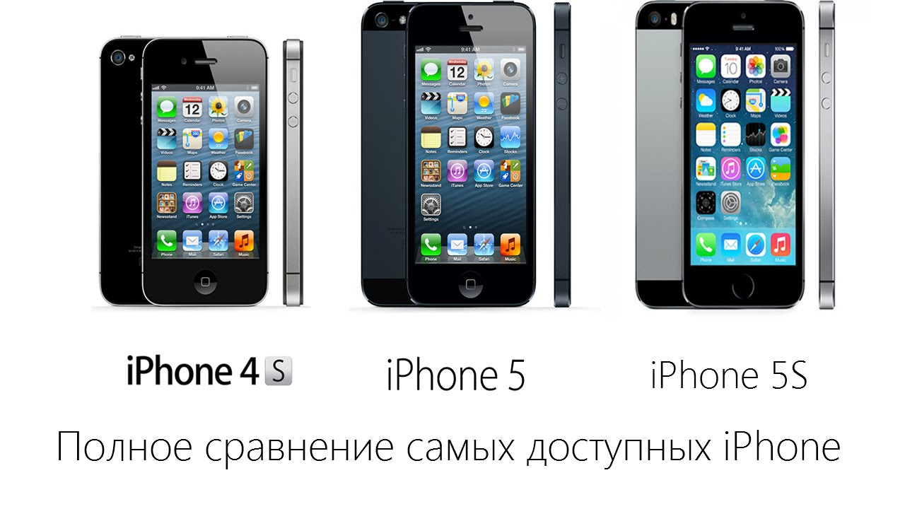 iphone 4s vs iphone 5 сравнение iphone 4s vs iphone 5 vs iphone 5s какой iphone 17358