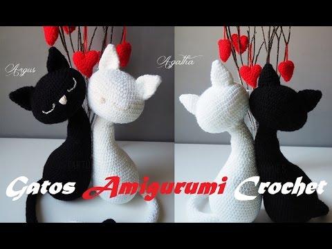 Amigurumi Gato Paso A Paso : Como hacer unos lindos gatitos a crochet youtube