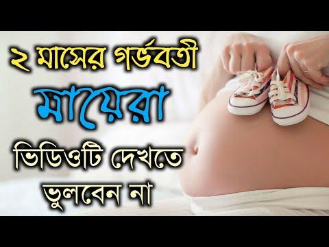 ২ মাসের গর্ভবতী মায়েরা ভিডিওটি দেখতে ভুলবেন না   2nd Month Pregnant Bangla.